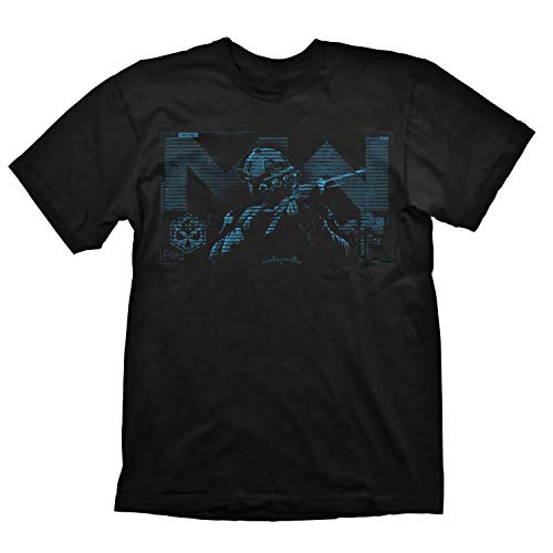 "Call of Duty Modern Warfare T-Shirt ""Blue Target"" Black Size XL"