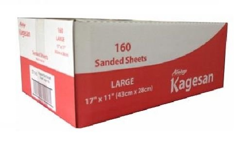 KAGESAN RED LARGE BULK VALUE BOX 160 BIRD CAGE SAND SHEETS SAND PAPER 43cmX28cm