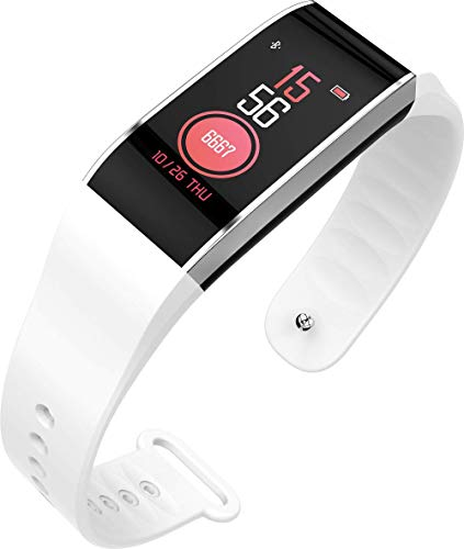 Bluetooth Smart armband, sport + slaap + hartslagmeter + stappentelling, herinneringsfunctie + wekker, wit