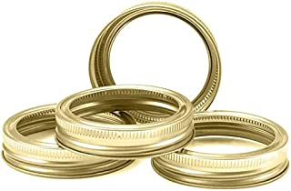 30 Pcs Golden Split-Type Regular Mouth Mason Jar Bands, Canning Jar Bands Kitchen Tools(70mm, bands)