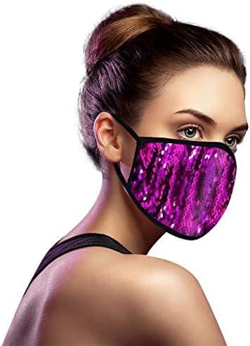 SPORTTIN 5PCs Unisex Adult Adjustable Shiny Bling Sequin Washable Reusable Windproof Anti Spitting product image