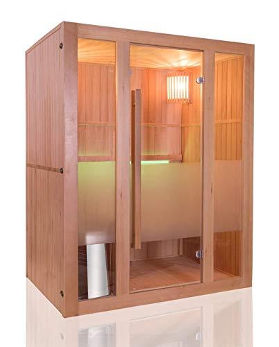 Sauna traditionnel Vapeur finlandais 3 places - en Epicéa - Poêles Harvia et accessoires inclus
