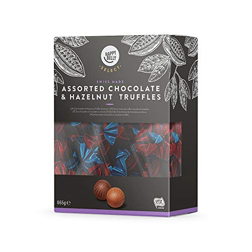 Marchio Amazon - Happy Belly Select Tartufi assortiti al cioccolato e nocciola 1x665g