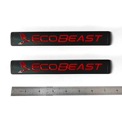 2pcs OEM Ecobeast Badge Emblem 3D Nameplate Replacement for Suv F150 Ecoboost 2011-2018 Black Red Genuine Parts 7.5 inches by 1.1 inches BL3Z-9942528-E