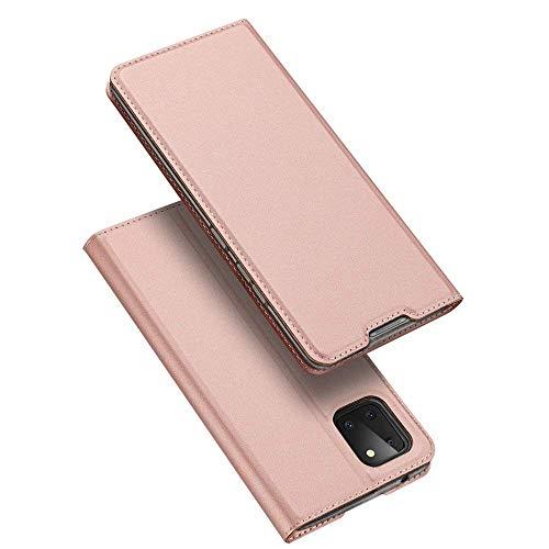 Buch Tasche kompatibel mit Nokia 3.4 Handy Hülle Etui Brieftasche Schutzhülle mit Standfunktion, Kartenfach Rose
