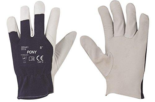 Guantes de trabajo en cuero de cabra, guantes de jardinería, guantes de...