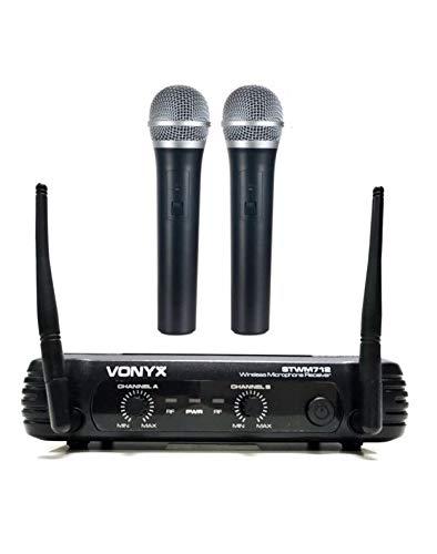 VONYX STWM712 Set radiomicrofoni VHS Per Voce Canto Karaoke Dj