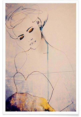 """JUNIQE® Poster 20x30cm Modeillustration - Design """"Abstractions Aside"""" (Format: Hoch) - Bilder, Kunstdrucke & Prints von unabhängigen Künstlern   Bilder mit Frauen - entworfen von Leigh Viner"""