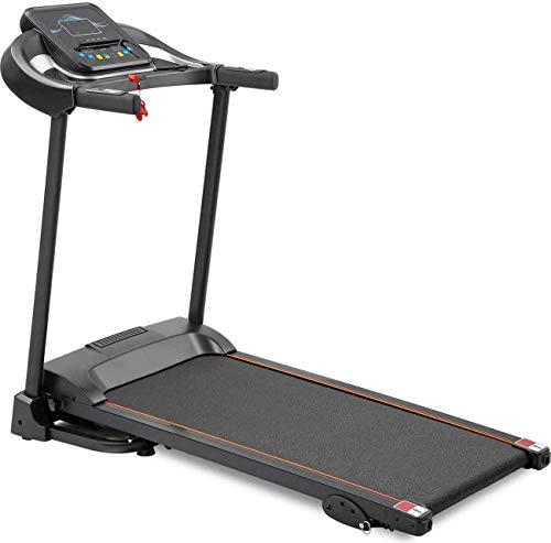 FJUGOOD Treadmills for Home Electric Folding Fitness Motorized Running Jogging Exercise Machinen 3 Incline Adjustment 12 Preset Programs LED Display