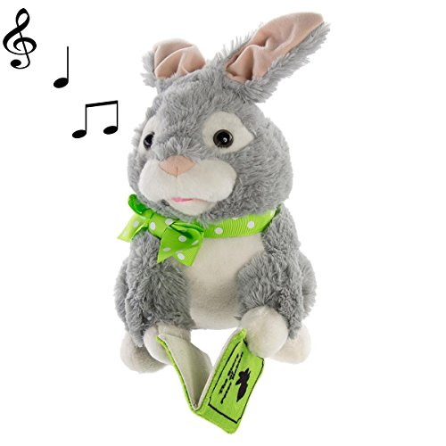 Simply Genius Storytelling Peter Rabbit, Easter Bunny Stuffed Animal, Plush Toy, Animated Stuffed Animals for Easter Decorations, Easter Basket