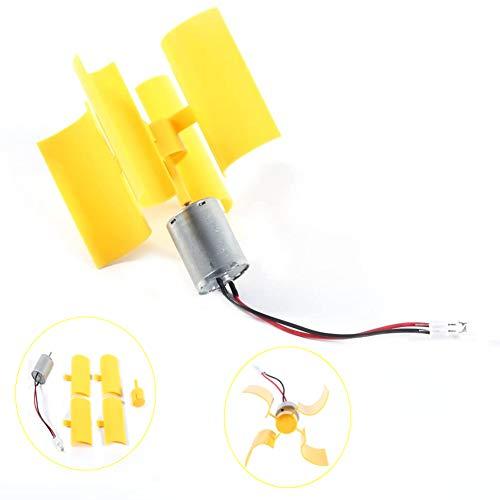 Acogedor Generador de Electricidad, Generador de Viento Vertical, Pequeño, Puede Trabajar con Viento Ligero, para Hacer Modelo de Ciencia, Kit de Bricolaje