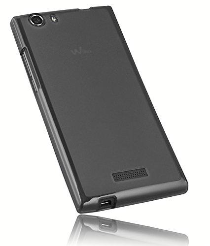 mumbi Hülle kompatibel mit Wiko Ridge 4G Handy Case Handyhülle, transparent schwarz