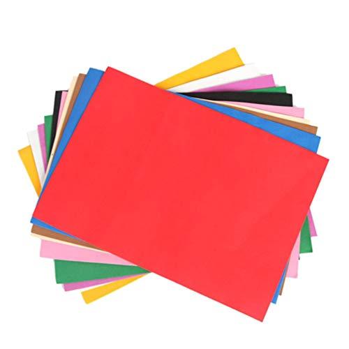 SUPXOV 20 * 30cm 80pcs Papel Colorido práctico EVA Color Mezclado Scrapbooking Esponja Espuma Hojas para Manualidades Tarjeta de Regalo DIY