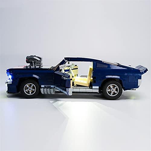 TongKuaiYouPin DIY Model Lighting, Block Creative Series Compatible con Lego 10265 21047 Ford GT Mustang Car LED Sports Coche LED Kit de iluminación (Modelo no Incluido)
