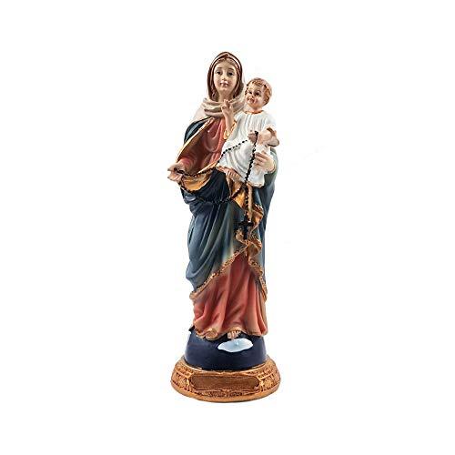 Heiligenfigur Maria mit Jesuskind Deko Figur Madonna Statue Mutter Weihnachten