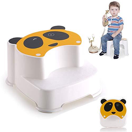LANGYINH Dubbele Hoogte Stap Kruk Toilet Potty Training Kruk en Keuken Stepping Kruk voor Kinderen, Kinderen, Peuter (Ondersteunt Tot 110 lbs)
