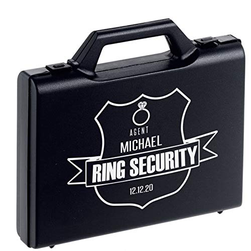 Ring Security Glasses - Agent Ear Piece - Wedding - Page Boy Accessory (Ring Case Personalised)