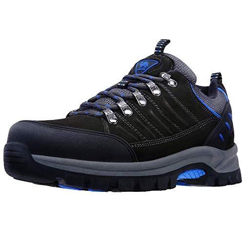 CAMEL CROWN Zapatillas de Senderismo Hombres Low-Top Zapatos de Seguridad Trabajo Antideslizantes Zapatillas de Deporte Zapatos para Caminar Trekking Escalada al Aire Libre