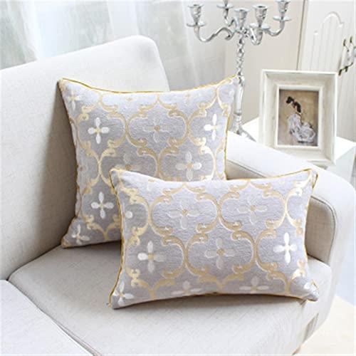 Moderne Mischkissen Kreative Floral Cusion Luxus Dekorative Wurfkissen mit innerem Kern Sofa Home Decor Funda Cojine (Color : 2, Size : 30X50cm Cusion Cover)