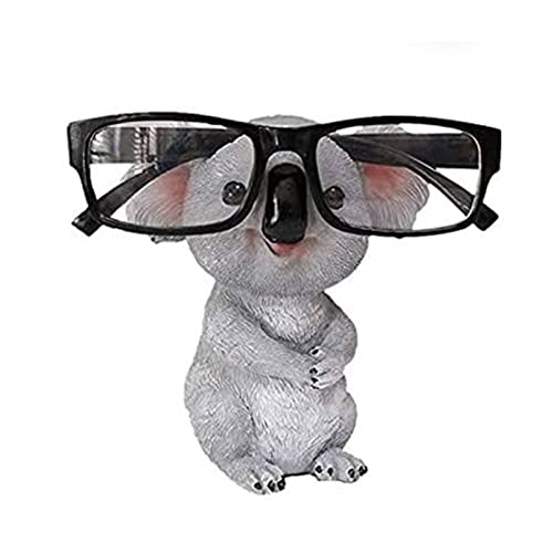 Hztyyier Soporte para Anteojos, 11cm Koala con Forma De Animal Soporte para Anteojos Retenedor Soporte para Exhibición De Espectáculos Oficina Decoración para El Hogar Regalo