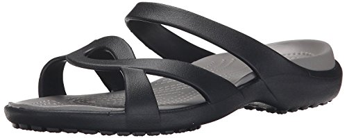 Crocs Meleen Twist, Ciabatte Donna, Nero (Black/Smoke), 37/38 EU