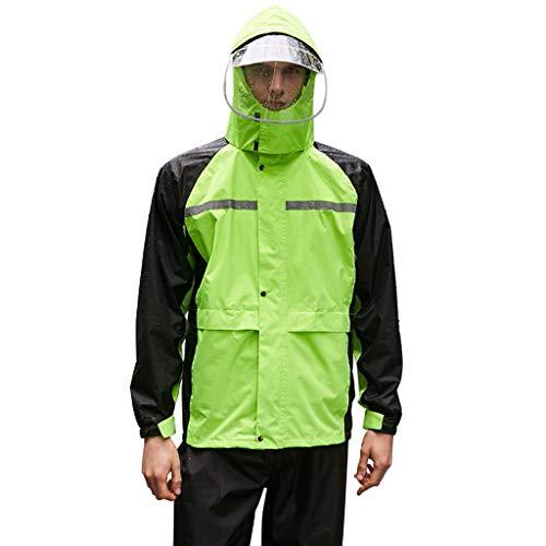 Soul Case Wasserdichter atmungsaktiver Regenschutzanzug für Herren Regenanzug wasserdichte leichte Regenbekleidung mit Kapuze für Golf, Wandern, Reisen (Jacke & Hosenanzug)