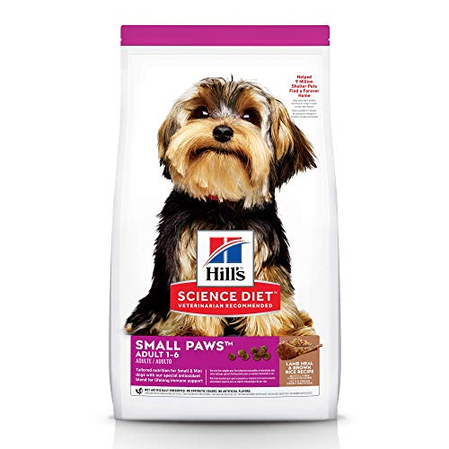 Hill's Science Diet Dry Dog Food, Adult, Small Paws for Small Breed Dogs, Lamb Meal & Brown Rice, 15.5 lb Bag