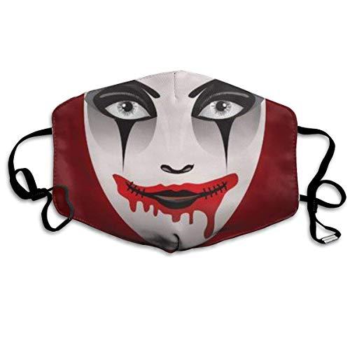Vrouw op de dag van het dode masker Gh-ost Face art. Masker mond masker hals gamasche masker bandana bivakmuts
