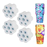 KOELIN Cup Turner Foam - 4 Pieces Cup Turner Accessories fit 30 oz Tumbler for Outside Diameter 1.05 inch PVC Pipe High Density Foam The Partner for Cup Spinner Machine 3/4' Pipe