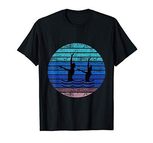 Synchron Swim artísticas niñas de natación sincronizada Camiseta