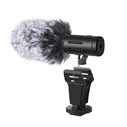 Shotory Camera Microphone, Shotgun Mic,Video Microphone for Camera,External Photography Interview Mic with 3.5mm Interface for Canon, Sony, Nikon,(Not for Canon T5i,T6,T7)