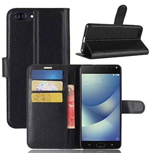 Nuevo for Asus Zenfone 4 Max (ZC520KL) Litchi Texture Funda de cuero con tapa horizontal con soporte y ranuras for tarjetas y billetera (negro) Shiningxie (Color : Black)