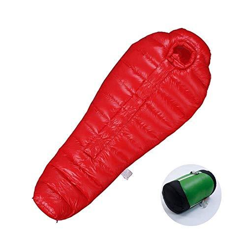 HUALI Momia Que acampa for Mantener el Calor y cómodo de Peso Ligero portátil de Senderismo Impermeable al Aire Libre Actividades e for Adultos Adulto, tamaño: kg Color: Rojo LIULI