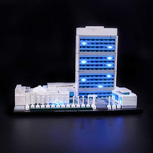 Kit De Iluminación Led para Lego Architecture United Nations Headquarters, Compatible con Ladrillos De Construcción Lego Modelo 21018 (NO Incluido En El Modelo)
