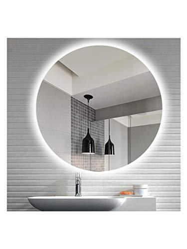 CustomGlass Espejo de Pared Redondo con iluminación led en Varias Medidas con Forma Circular (80 cm Redondo)