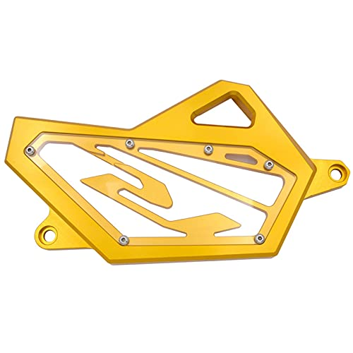 WJSM for Yamaha YZF-R3 YZF-R25 MT03 MT25 2015-2018 Front Sprocket Guard Protector Chain Guaud Cover for Yamaha YZF R3 R25 MT 03 25 (Color : Gold)