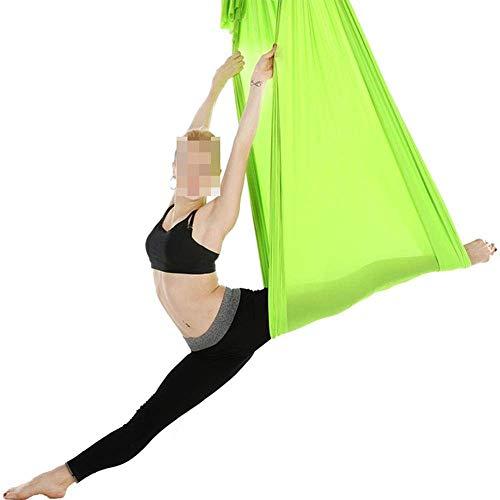 WYJW Hangmat Outdoor Camping Fitness Yoga Stretch Riemen Anti-zwaartekracht Yoga 5 * 2.8m 09-Rose Rood