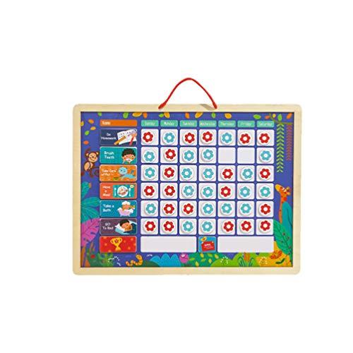 EXCEART Tabla de Tareas de Responsabilidad Magnética Registro de Comportamiento Educativo Y Playboard Tablero de Recompensa Colgante para Niños 1 Piezas