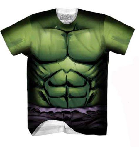 Marvel Incredible Hulk Men's Verde Rock T-Shirt, White Sublimated, Medium