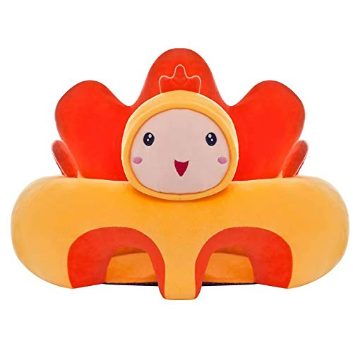Waymeduo Cartoon Plüschsitz Baby Sofa Sitz Baby Soft Stuhl Abnehmbarer Stützsitz Kleinkind Spielzeug Kissen Waschbare Wiege Sofa Stuhl chick 35 * 40 * 50cm