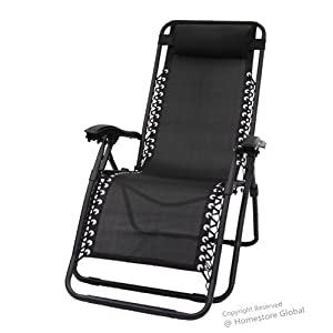 HomeStore Zero Gravity Reclining Relaxer Chair Black