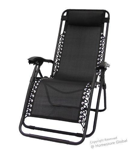 HomeStore Zero Gravity Reclining Relaxer Chair Black