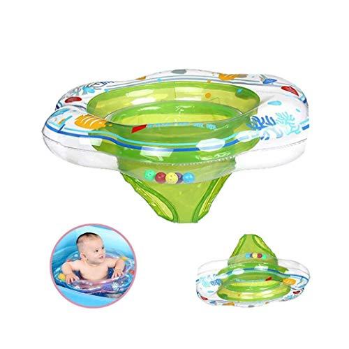 HYM Baby Schwimmen Ring Aufblasbare Schwimmen Sitzhilfe Kleinkind Sicherheitshilfe Float Sitz Ring Hautpflege PVC Infant Training für 6 Monate-3 Jahre Kinder,Green