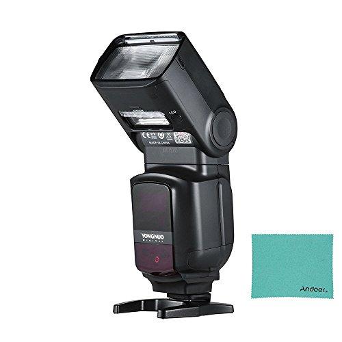 Yongnuo YN968EX-RT Flash master speedlite telecamera TTL  wireless, con luce LED integrata, 1   8000s, HSS, con panno di pulizia Andoer per Canon 500D, 550D, 40D, 1000D, 1100D, 1200D