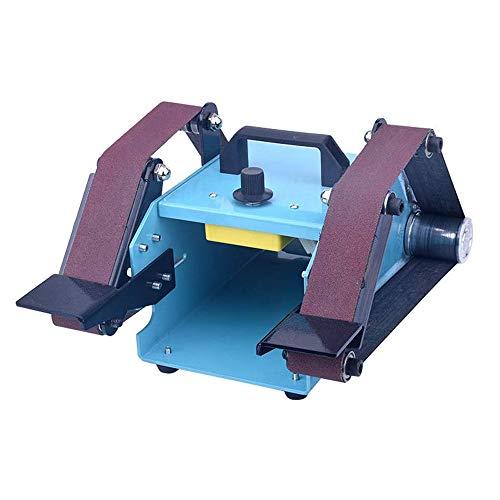 Kacsoo Máquina de cinta eléctrica de escritorio de doble eje de 950 W, lijadora de banda multifunción, pulido de amoladora ajustable, máquina de lijado de herramientas de lijado
