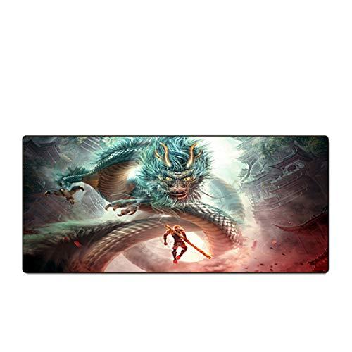 CJIUDI Extra Große Gaming Mouse Pad/Goku Table Mat - G/Computer Mauspad Gamer Anti-Slip Natürliche Gummi Anime Maus Pad Schreibtisch Matte Xl Xxl