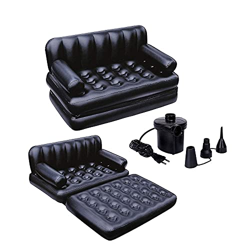 HARSHUDHI Air Sofa Bed 5 in 1 Inflatable Couch with Electric Pump (Black)