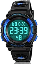 Dodosky Boy Toys Age 5-12, LED 50M Waterproof Digital Sport Watches for Kids Birthday Presents Gifts for 5-12 Year Old Boys - Blue
