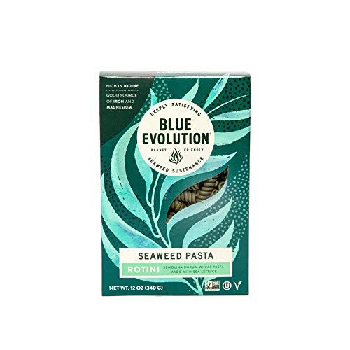 Blue Evolution Seaweed Pasta, Nourishing Superfood Rotini, Whole Food Vegan Pasta, Rich in Antioxidants 12 OZ (6 Pack)
