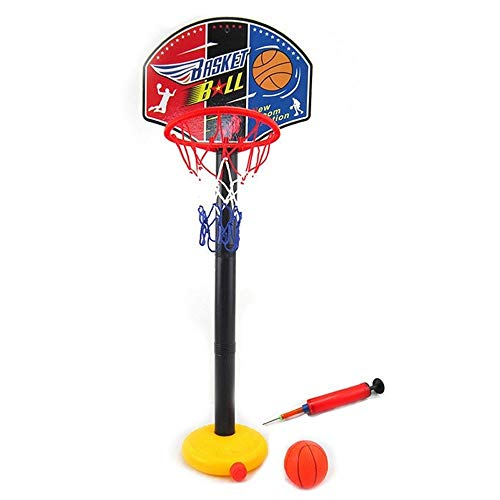 URVP Stand basketball hoop for kids Portable Indoor Outdoor Toy Set Height Games Adjustable 88-115cm With Sport Game Play Set Net Ball and air Pump for Toddlers Boys Girls Children Toys Best Best Gift
